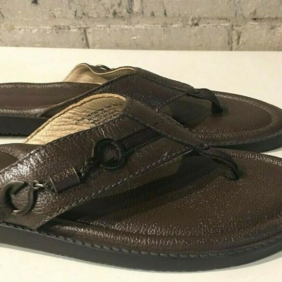 a81fd8b669c3 Tommy Bahama Belize Vintage Leather Flip Flop 13M